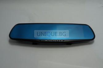 Видеорегистратор + камера за паркиране Full HD 1080P – огледало за кола